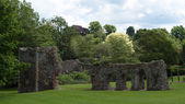 Ruins Abbey Garden, Bury St Edmunds, UK — Stock Photo