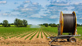 Agricultural irrigation system, Suffolk, England, UK — Stock Photo