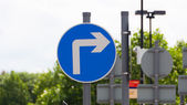 Right turn only — Stock Photo