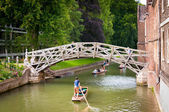 Mathematical bridge, Cambridge unversity, England, UK — Stock Photo