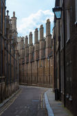 Streets of Cambridge University, Cambridge, England, UK — Stock Photo