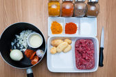Prep for spicy indian cuisine close up — Stock Photo
