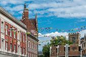 Tour De France 2014 Cambridge to London decorations in city centre — Stock Photo