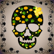 Cheerful vector background with a skull — Stock Photo