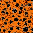 Seamless pattern with black pumpkins — Stock Vector #13386780