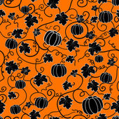 Seamless pattern with black pumpkins — Vettoriale Stock