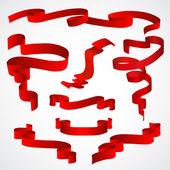Kırmızı teyp kümesi — Stok Vektör