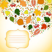 Invitation card with autumn background — Vector de stock