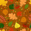 Seamless pattern with colorful autumn leaves — Stock Photo