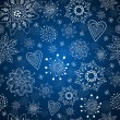 Blue seamless background with snowflakes — Stock Vector