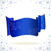 Big blue cristmas tape with freezing pattern — Stock Vector