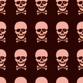 Seamless pattern with rose skull — Stock Vector