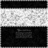 花边白色带黑色背景 — 图库矢量图片
