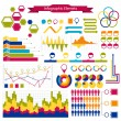 Infographics collection :graphs,histograms,arrows - Stock Vector