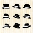Vector Collection of Vintage Hats - Stock Vector