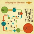 Green red infographics elemetns collection - Stok Vektr
