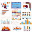 Blue orange info graphics — Stock Vector
