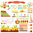 Stock Vector: Info graphics vector elements collection