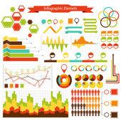 Infos graphiques vectoriels collection elements — Vecteur
