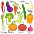 Funny vegetable cartoon isolated — Imagen vectorial