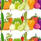 Patrones sin fisuras. gracioso vegetal — Vector de stock