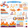 Stock Vector: Vector info-graphic elements set