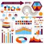 Vector info-graphic elements set 01 — Stock Vector