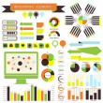 Vector infographic. orange-green 01 — Stock Vector #28142535