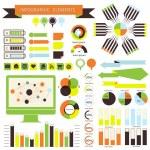 Vector infographic. orange-green 01 — Stock Vector
