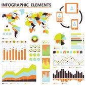 Infografica vettoriale. 02 arancio-verde — Vettoriale Stock