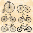 Set of bicycles in vintage style — Stock Vector #28160857