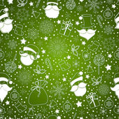 Green abstract background with snowflake — Stock Vector