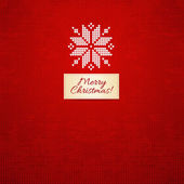 Merry Christmas Scandinavian style knitted card — ストックベクタ