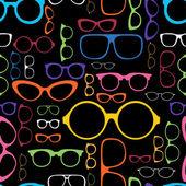 Retro Color Glasses Silhouettes — Stock Vector