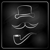 Gentlemen graphic isolated on chalckboard. — Stock Vector