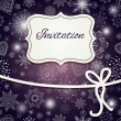 Christmas invitation card — Stock vektor