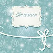 Noel davetiye — Stok Vektör