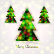 Christmas tree on an abstract background — Stock Vector
