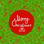 Christmas ball greeting card template — Stock Vector #36422387