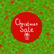 Christmas Sale Tags on christmas signs — Imagen vectorial