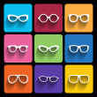 Glasses frame icons. Vector illustration. — Stock Vector