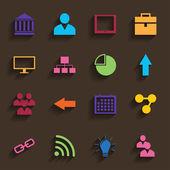 Web Icons Set in Flat Design — 图库矢量图片