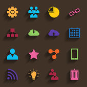 Web Icons Set in Flat Design — Stock vektor