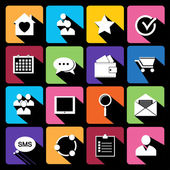 Web Icons Set in Flat Design — Stock Vector
