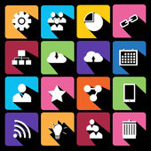 Modern flat icons vector collection. — Stock Vector