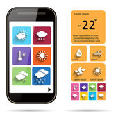 Weather widget template background. — Stockvektor
