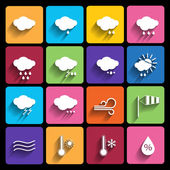 Weather icons set - vector. — Stock Vector