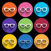 Glasses frame icons. Vector illustration. — Stock Vector