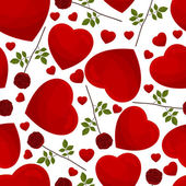 Seamless pattern from hearts — Stock Vector