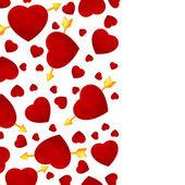 Hearts and arrow invitation card. — Stock Vector
